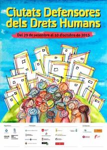 Cartell Ciutats Defensores Drets Humans 2015 - Sant Boi