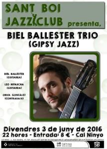 Biel Ballester Trio Sant Boi Jazz Club