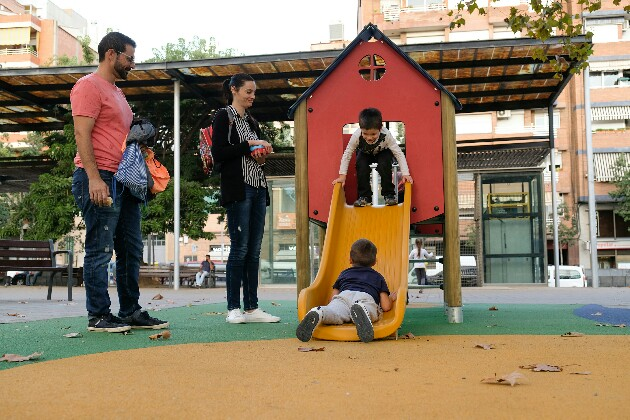 Jocs infantils renovats a pl. Catalunya (primera fase)-630x420