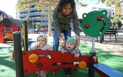Nou parc infantil a la plaça de Catalunya