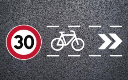 Les bicicletes podran circular pel centre de la calçada a les 'zones 30' de Sant Boi