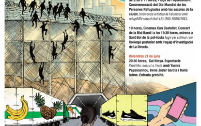 500 escolars de Sant Boi faran una instal·lació artística amb motiu del Dia Mundial de les Persones Refugiades