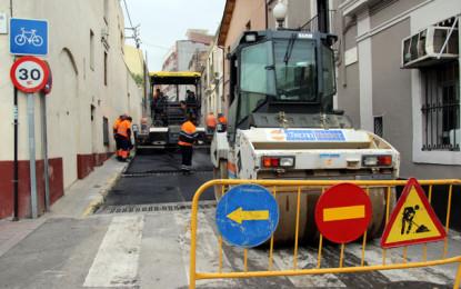 Repavimentació de vuit carrers de la ciutat